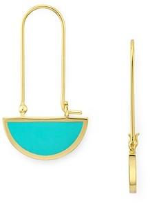 Argentovivo Half-Circle Geometric Drop Earrings