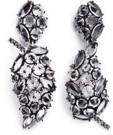Lulu Frost 'Diamanda' glass crystal cluster leaf drop earrings