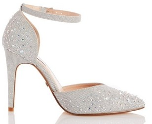 Dorothy Perkins Womens Quiz Wide Fit Silver Court Heels, Silver