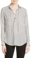The Kooples Women's Stripe Lace-Up Top