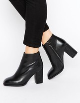 Daisy Street Square Toe Heeled Ankle Boots