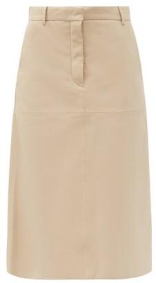 Joseph Salva High-rise Leather Skirt - Cream
