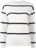 Brunello Cucinelli cashmere striped jumper - women - Cashmere/Brass - S