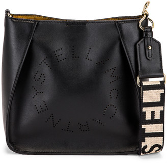 Stella McCartney Mini Faux Leather Crossbody Bag in Black | FWRD