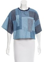 3.1 Phillip Lim Colorblock Crop Top