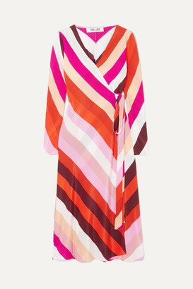 Diane von Furstenberg Tilly Silk Crepe De Chine Wrap Dress - Pink