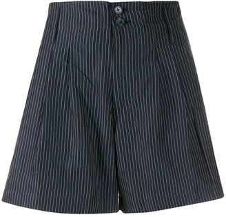 YMC Striped Wide Leg Shorts