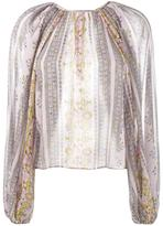 Giambattista Valli printed balloon-sleeved blouse - women - Silk - 42
