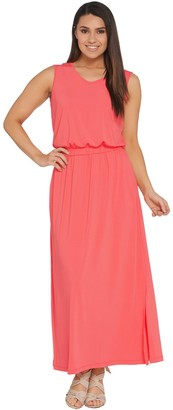 Joan Rivers Classics Collection Joan Rivers Regular Length Sleeveless V-Neck Jersey Maxi Dress