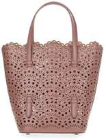 Alaia 7W1G123RCA29 Tan leather laser-cut bag