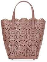 Alaia Tan leather laser-cut bag