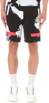 Off-White Liquid spots cotton-jersey shorts
