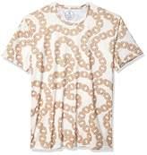Azaro Uomo Junior's Mens Stylish T-Shirts Cool Slim Fit Graphic Printed Stretch