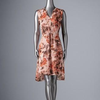 Women's Simply Vera Vera Wang Knot-Waist Shirt Dress