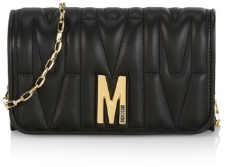 Moschino Embossed Leather Wallet-On-Chain