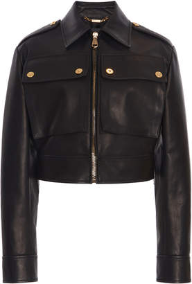 Versace Cropped Leather Jacket