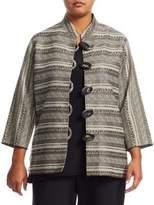 Caroline Rose Plus Mixed Stripe Jacket