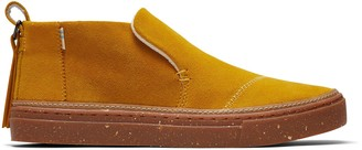 Toms Water Resistant Yellow Suede Paxton Women's Slip-Ons