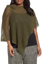 Eileen Fisher Plus Size Women's Organic Linen Mesh Knit Poncho