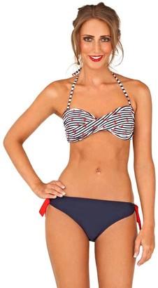 Lora Dora Womens Nautical Bikini Set Navy UK 8