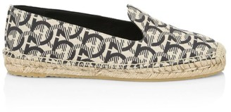 Salvatore Ferragamo Sue Logo Canvas Espadrilles