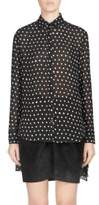 Saint Laurent Dot Button-Front Blouse