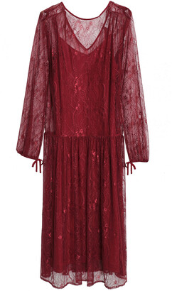 DAY Birger et Mikkelsen Gathered Corded Lace Midi Dress