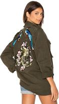 Blue Life X Good F*ckin' Vibes Blue Bird Army Jacket in Army