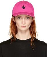 Palm Angels Pink Leaf Cap