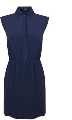 Urun Essentials Mini Shirt Dress In Navy Blue