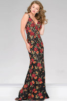 Jovani Lace Embroidered Fitted prom Dress 48985