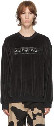 Martine Rose Black Velour B-Repovesi C Sweatshirt