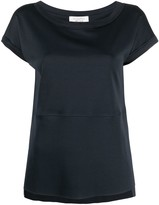 Thumbnail for your product : Antonelli crop-sleeve cotton T-shirt