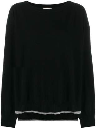 Semi-Couture Semicouture long-sleeve flared jumper