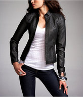 Express (minus The) Leather Quilted Shoulder Jacket