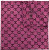 Moschino logo print pocket square