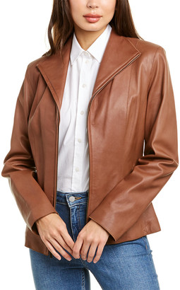 Cole Haan Lambskin Classic Leather Jacket