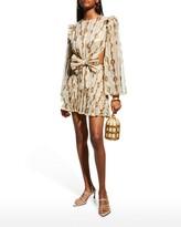 Thumbnail for your product : Raisa Vanessa Draped Bow Chiffon Mini Dress