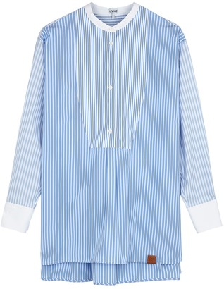 Loewe Blue striped cotton tunic