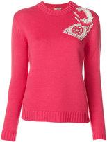 Miu Miu embellished knitted jumper