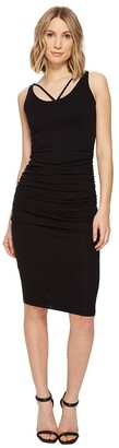 Michael Stars Women's Front to Back Midi Dress with Shirring