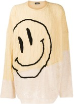 Raf Simons smiley embroidery panelled jumper