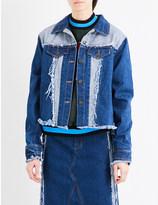 Ground Zero Shredded denim jacket