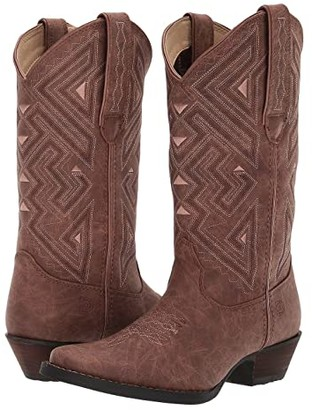 Durango 12 Crush Narrow Square Toe (Distressed Sepia) Women's Shoes
