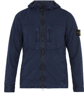 Stone Island Zip-through brushed-cotton jacket
