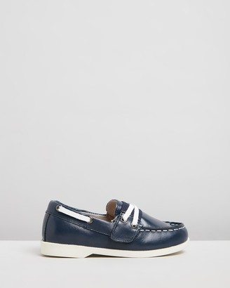 Little Fox Shoes - Navy Loafers - Richmond Loafers - Size One Size, 24 at The Iconic
