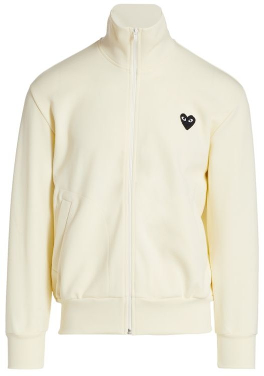Comme des Garcons Heart Embroidered Full Zip Track Jacket