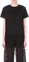 Sacai Corded lace and linen-blend t-shirt