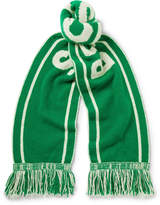 The Elder Statesman - + Nba Celtics Fringed Intarsia Cashmere Scarf