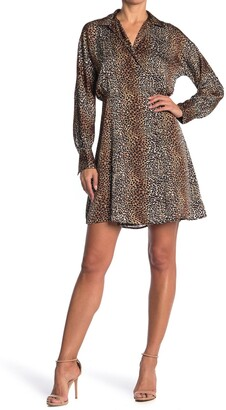Equipment Harmon Leopard Print Shirt Dress
